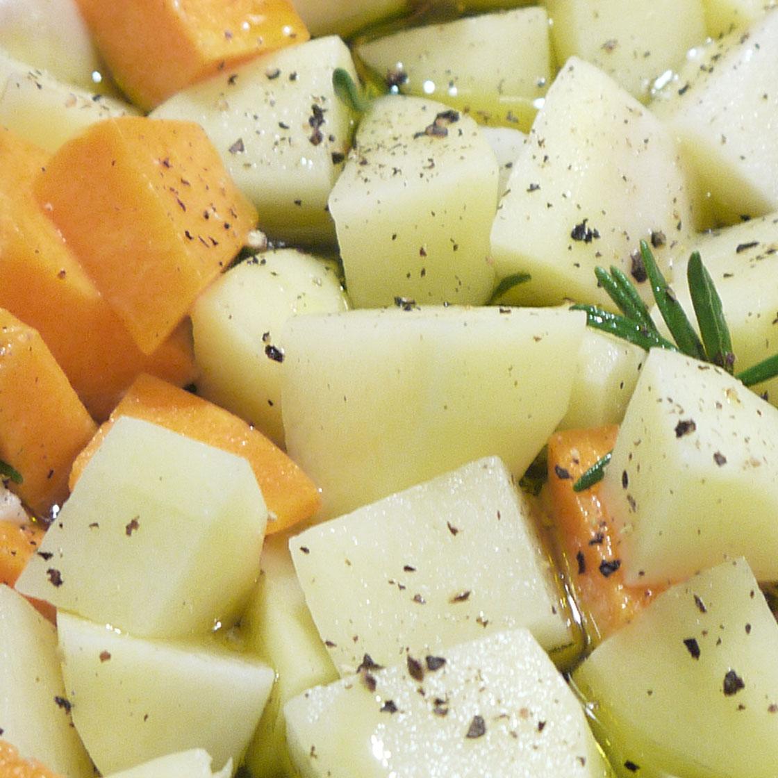 Patate e zucca al vino bianco