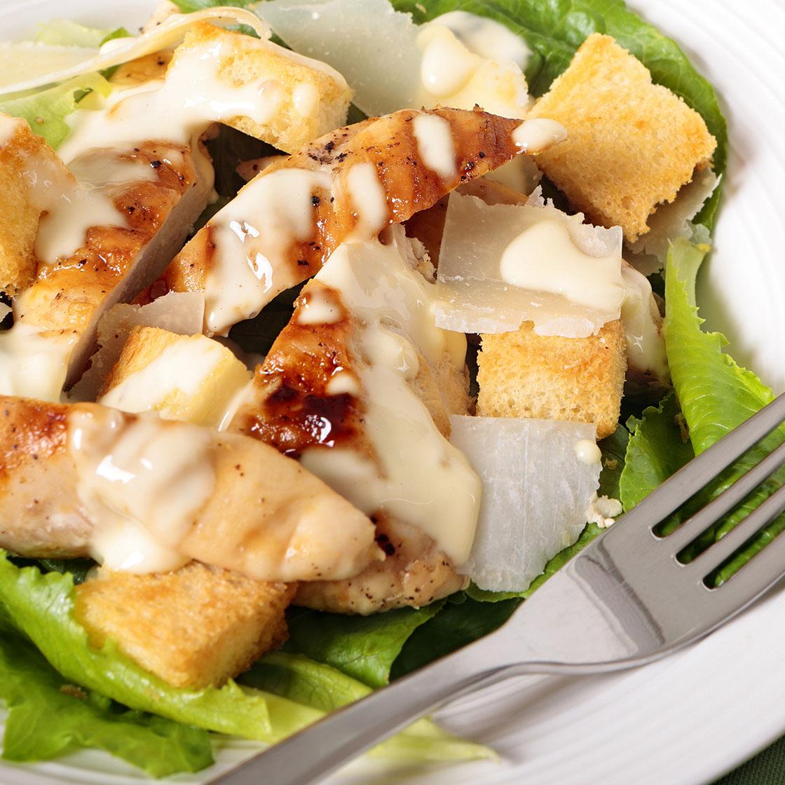 Caesar salad allégée