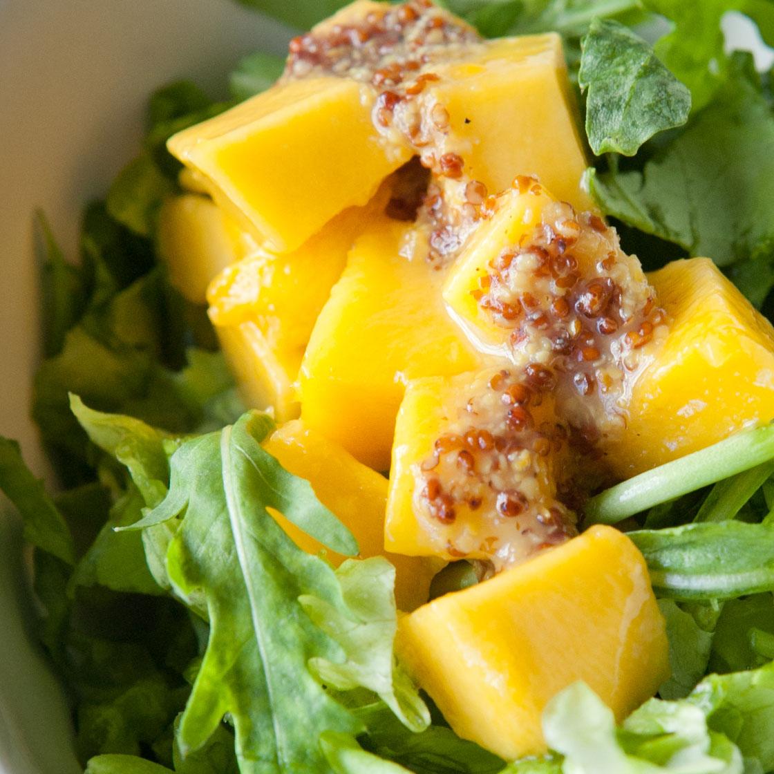 Insalata di mango, rughetta e senape Ancienne