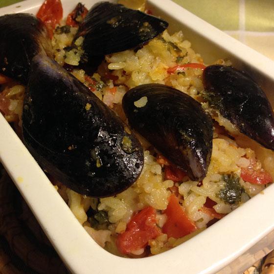 Tiella di riso, patate e cozze (1)