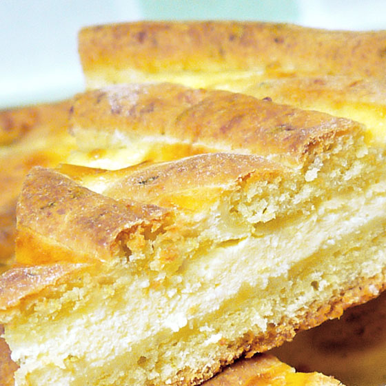 Torta salata al grana e basilico