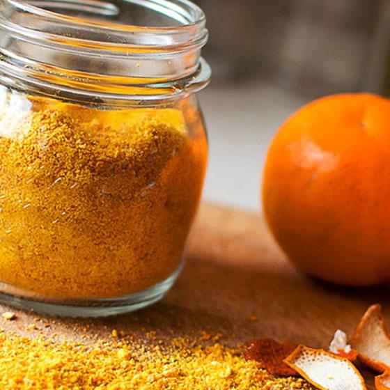 Polvere d'arancia al microonde