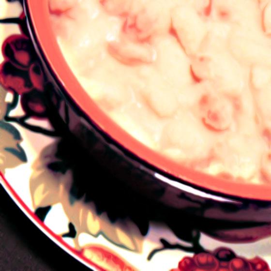 Zuppa di fagioli egamberi