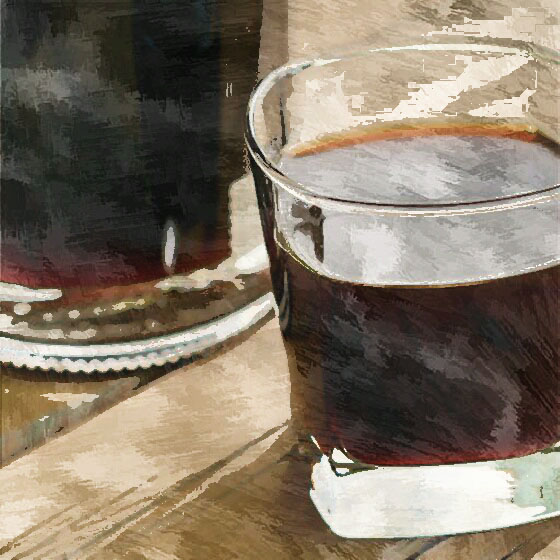 Liquore di cacao e caffè