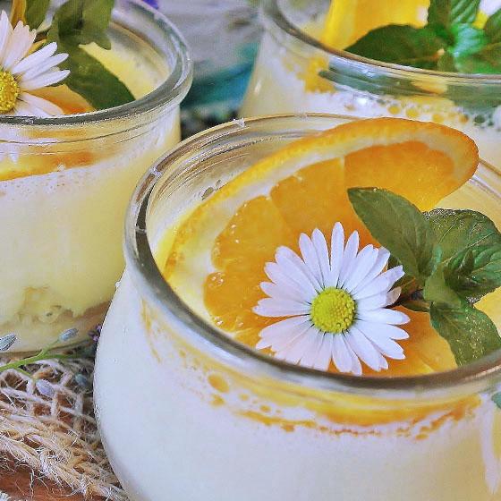 Crema bianca all'arancia