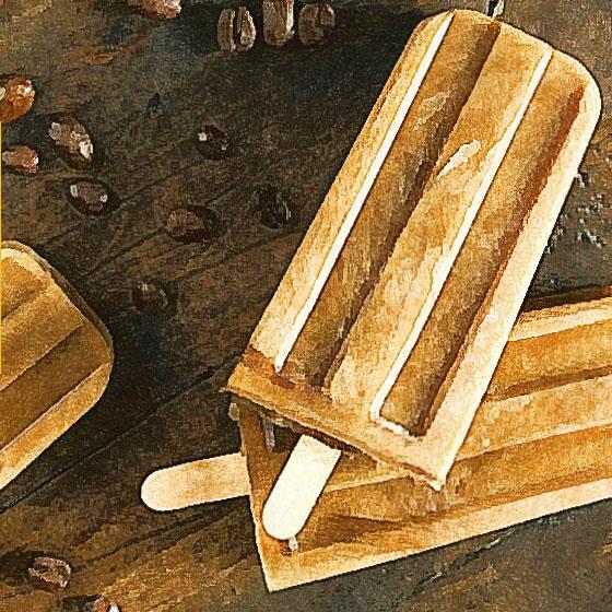 Ghiaccioli sherbet al caffè