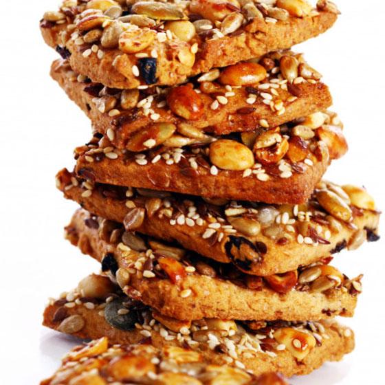 Biscotti/barrette con frutta, fibre e semi