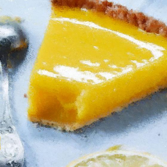 Crostata con frolla NoGlù bianca e Orange curd