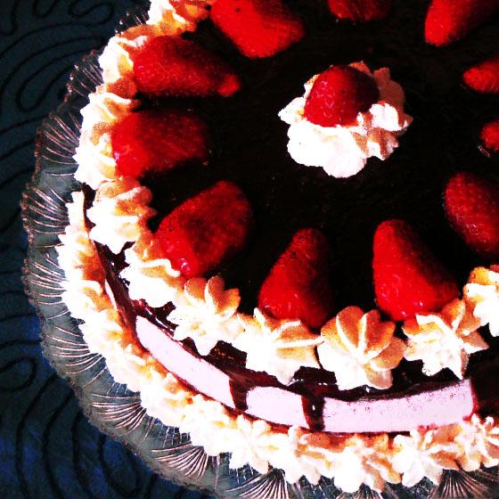 "Torta ""Mia10"" cacao e fragole"